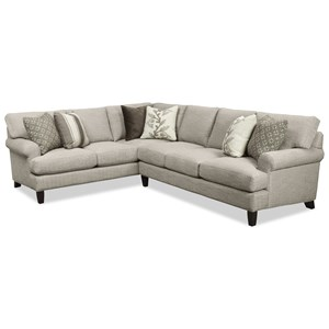 Craftmaster 767350 2 Pc Sectional Sofa w/ LAF Corner Sofa