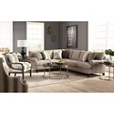 Craftmaster 767350-767450-767550-767650 Two Piece Sectional Sofa with LAF Corner Sofa
