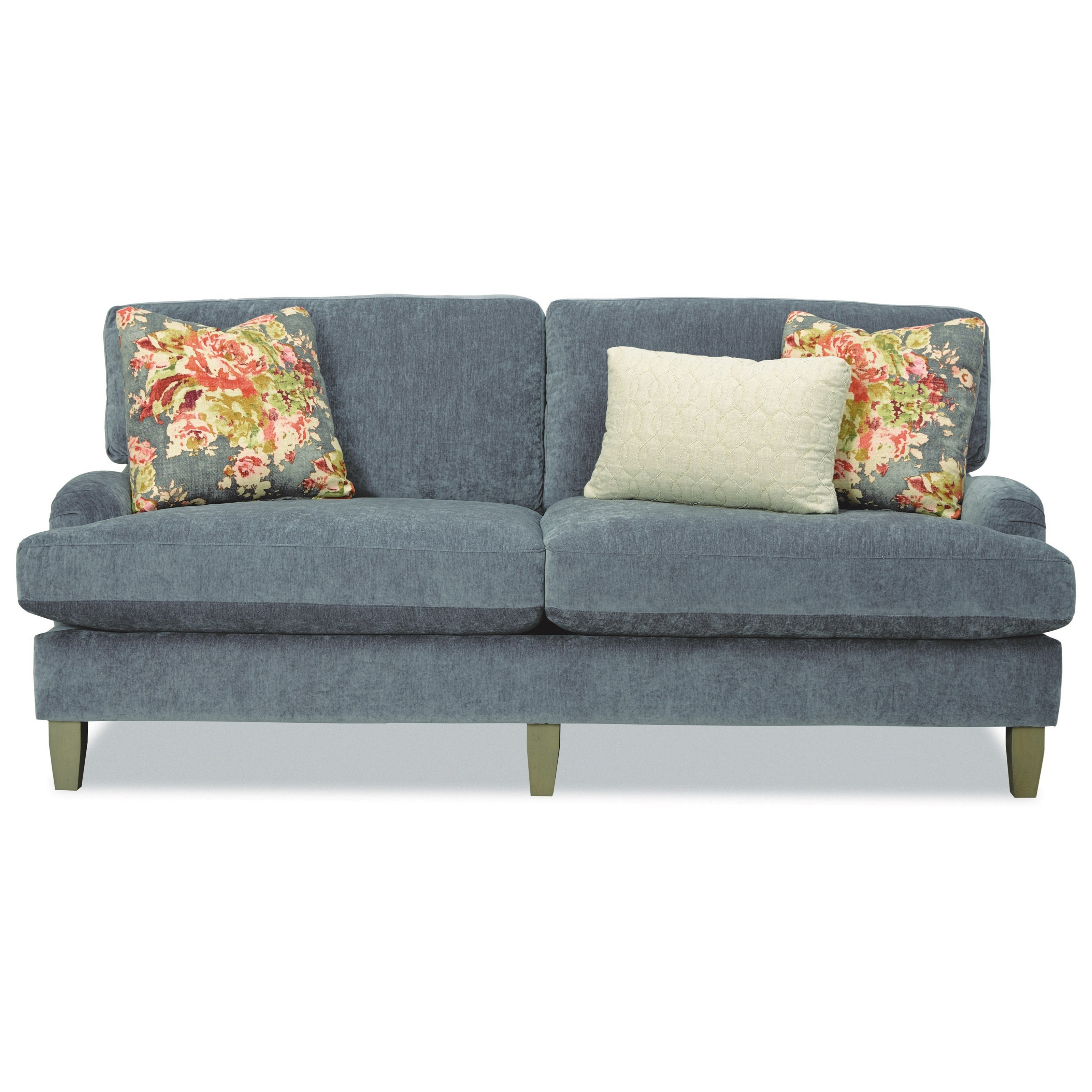 Craftmaster Two Seat Apartment Size Sofa With English Arms