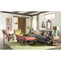 Craftmaster 768400 Two Seat Apartment-Size Sofa with English Arms