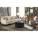 Craftmaster 769600 Casual Sofa with Curved Front Rail
