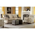 Craftmaster 770450 Contemporary Apartment-Size Sofa with Four Pillows