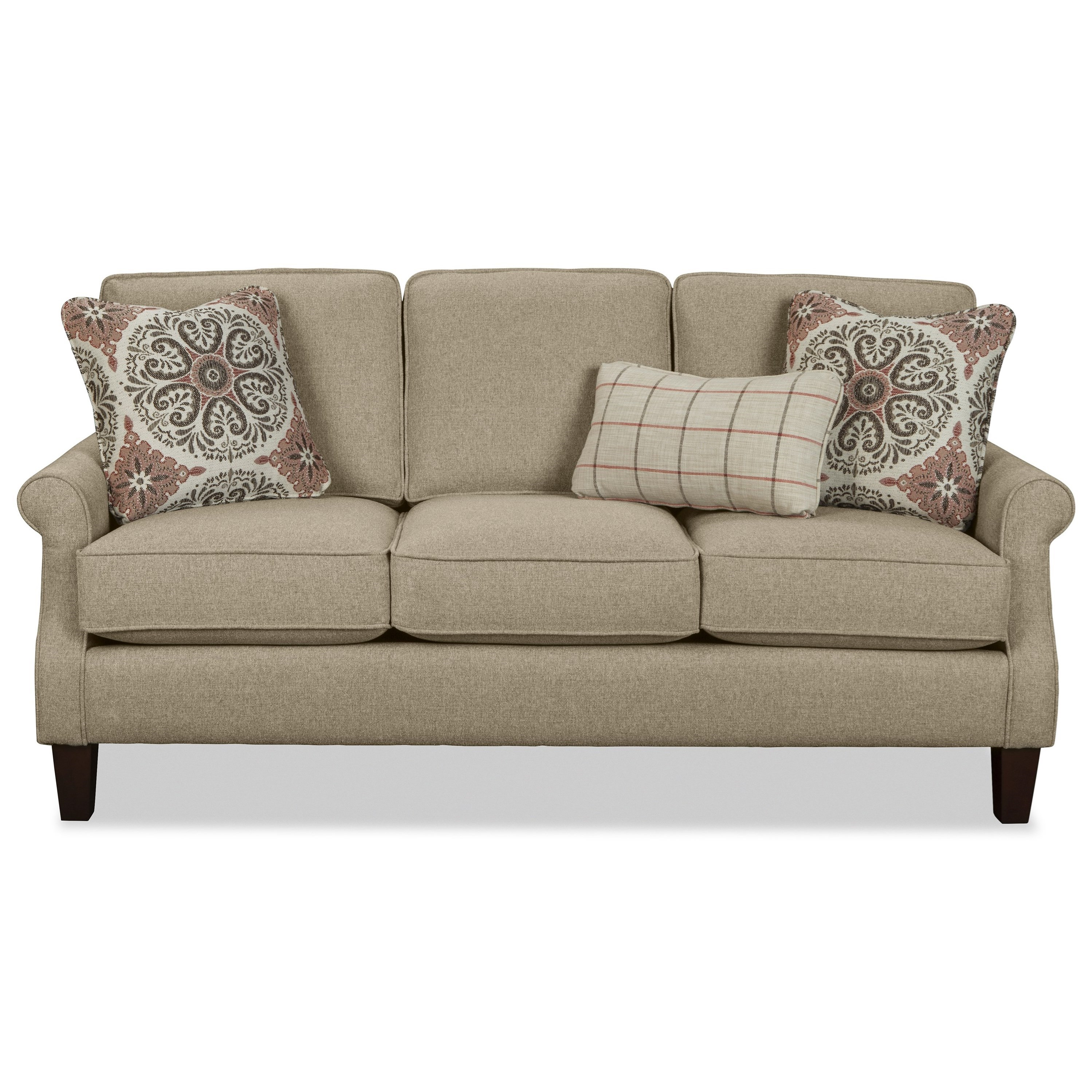 craftmaster 7719 apartment size sofa with rolled arms 87924