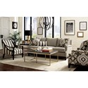 Craftmaster 775750-775850-775950-77650 Transitional Sofa with Scooped Arms and Brass Nails