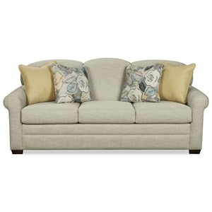 Craftmaster 778450 Queen Sleeper Sofa w/ Memoryfoam Mattress