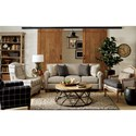 Craftmaster 778850 Transitional Sofa with Brass Nails