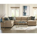 Craftmaster 783950 5-Seat Sectional Sofa with RAF Chaise - Item Number: 783932BD+34BD+33BD+41BD-NOTION-10