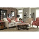 Craftmaster 785250 Transitional Sofa with Nailhead Border and Six Toss Pillows
