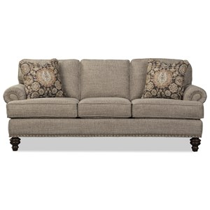 Sofa with Memory Foam Queen Sleeper