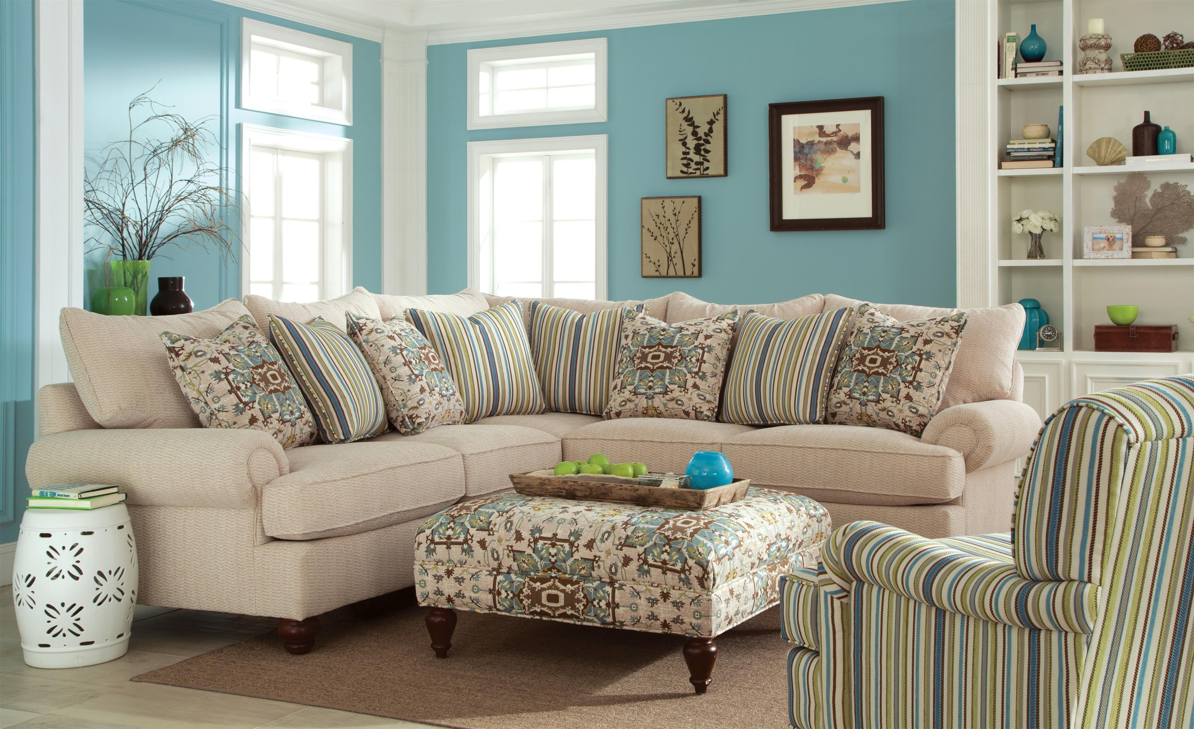 Craftmaster Carla Two Piece Sectional Sofa With Turned
