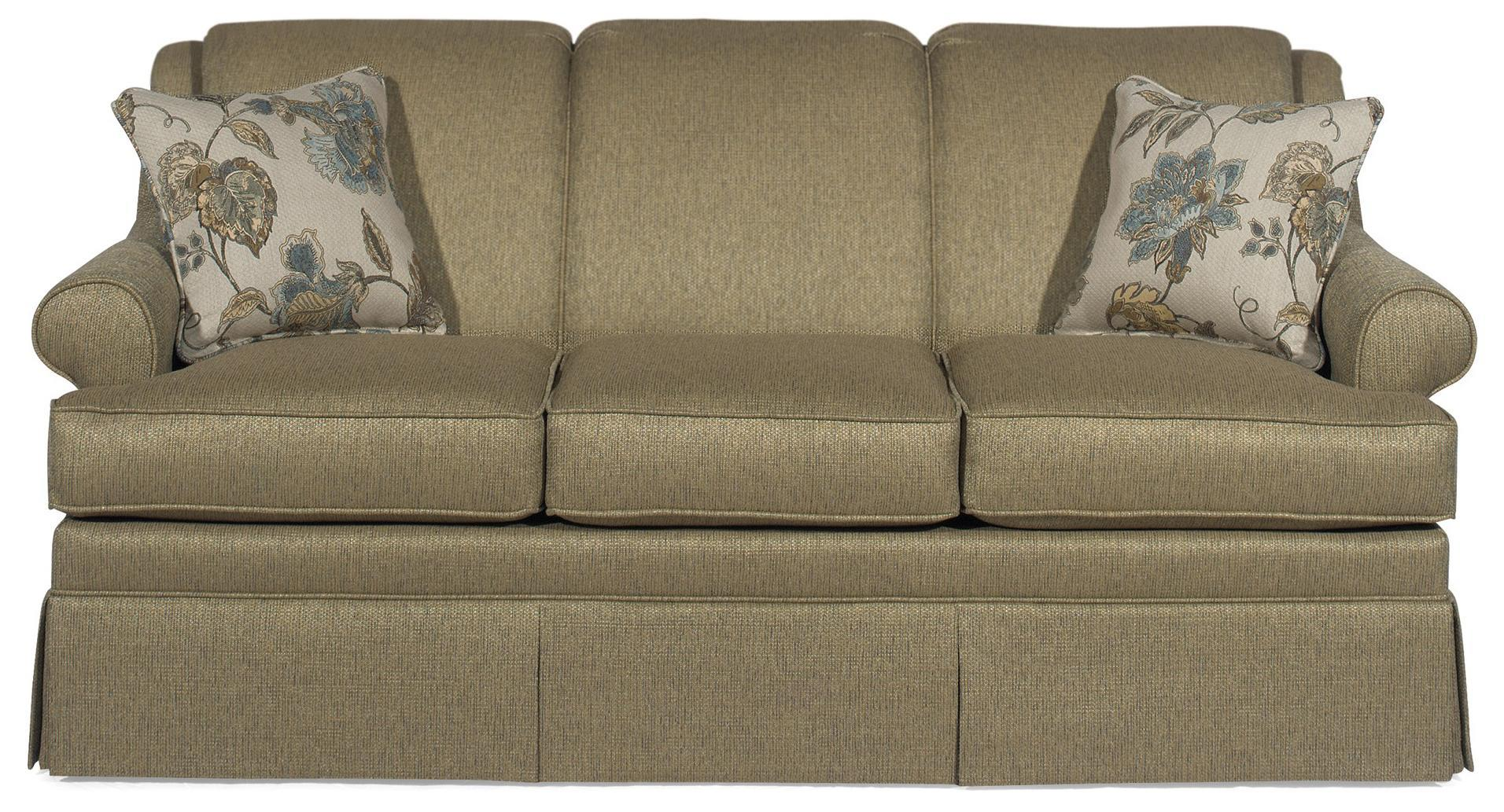 Hickory Craft 9205 Traditional Stationary Sofa With Rolled