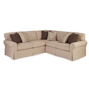 Craftmaster 9228 2 Pc Sectional Sofa with RAF Return Sofa