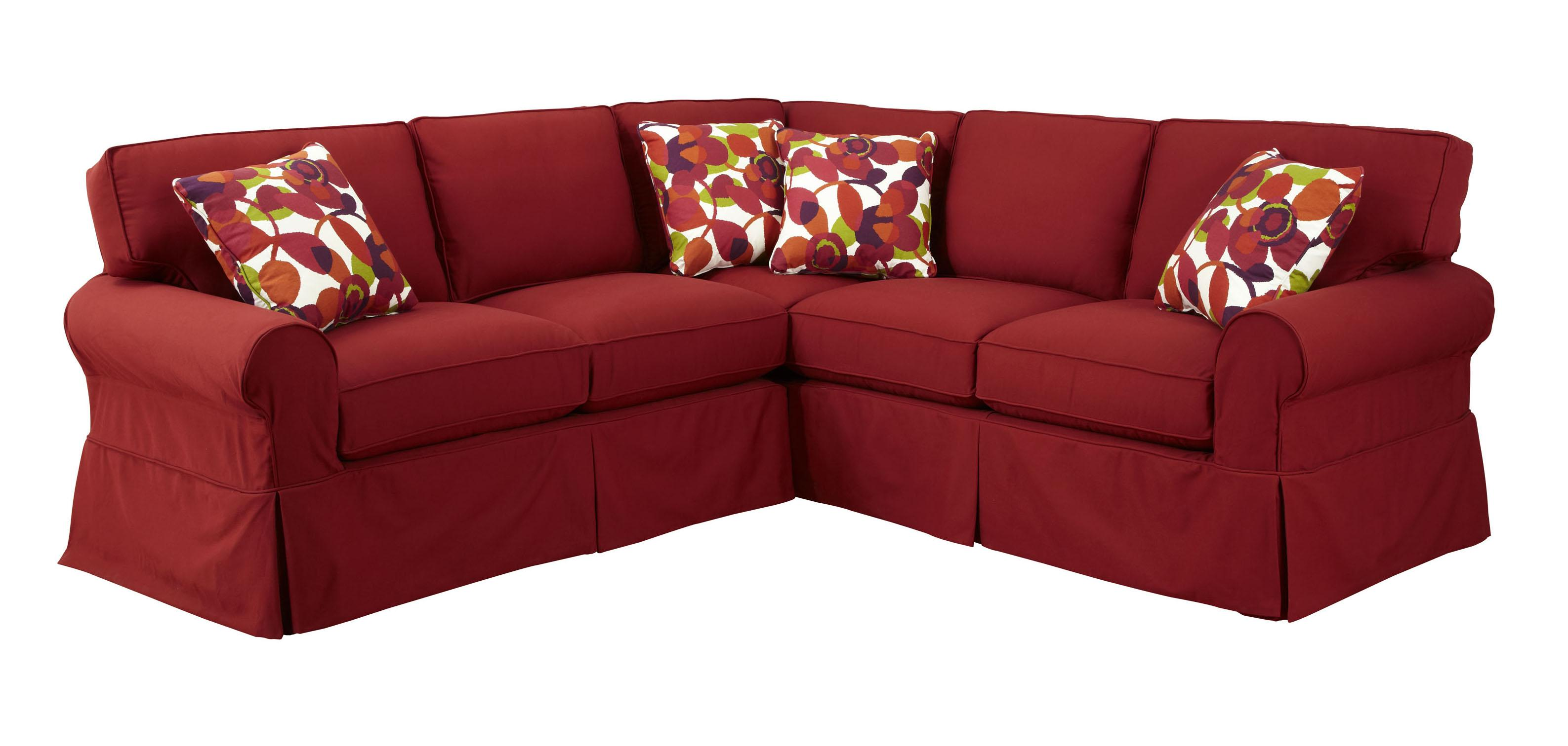 Craftmaster Two Piece Slipcovered Sectional Sofa with RAF