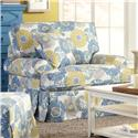 Craftmaster 952100 Skirted Chair with Faux Slipcover Look - Fabric Shown No Longer Available