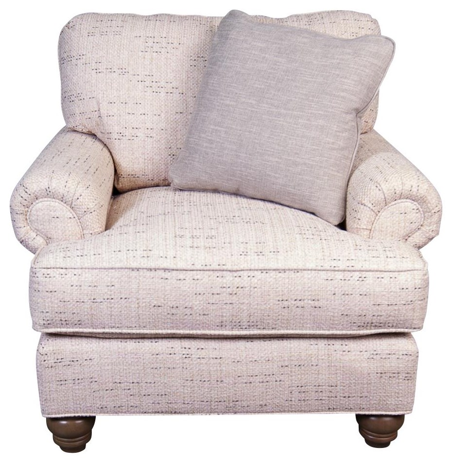 Belle Paula Deen Belle Chair with accent pillow by Craftmaster at Morris Home