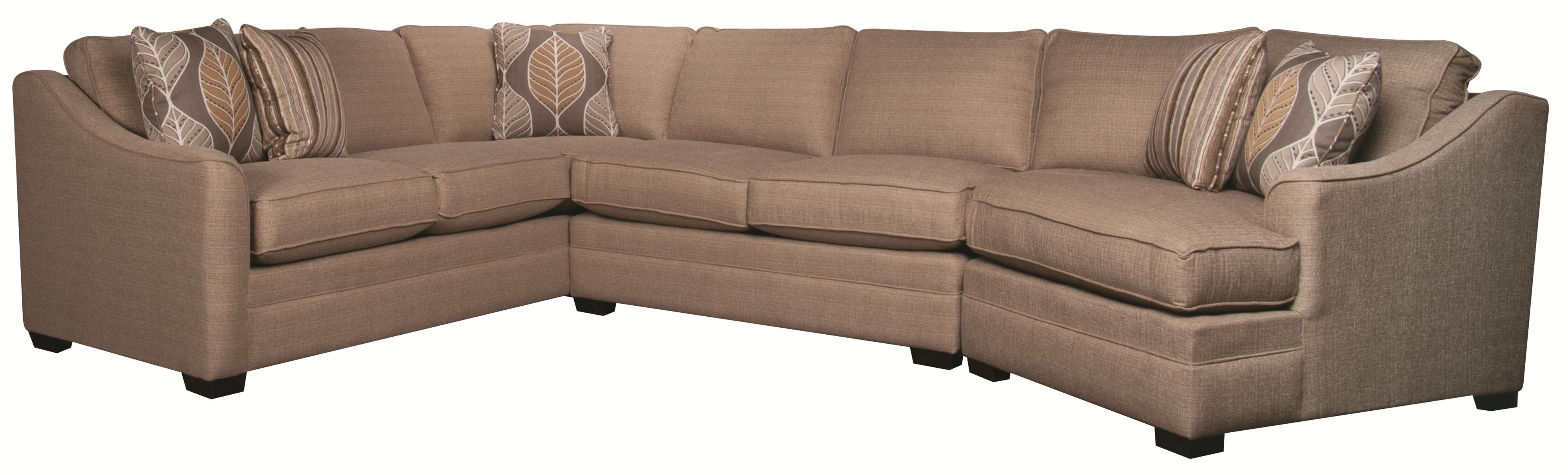 Main & Madison Bjorn 3 Piece Sectional Morris Home Sofa Sectional
