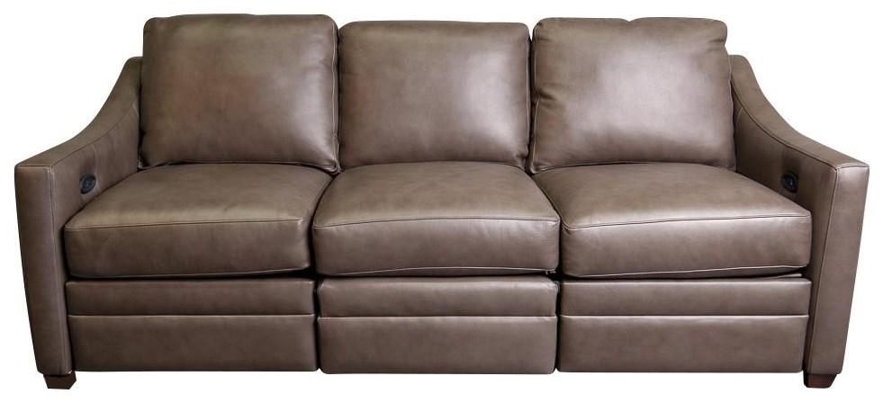 Bjorn Leather Match Power Sofa