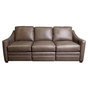 Bjorn Leather Match Power Sofa