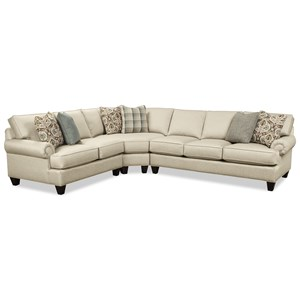Craftmaster C9 Custom Collection 3 Pc Sectional Sofa