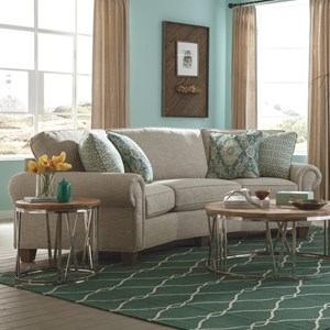 Craftmaster C9 Custom Collection U003cbu003eCustomu003c/bu003e Conversation Sofa