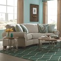 Craftmaster C9 Custom Collection CustomConversation Sofa - Item Number: C914256-Trinidad 10