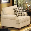 Craftmaster C9 Custom Collection <b>Customizable</b> Chair - Shown with Panel Arm and Turned Wood Foot