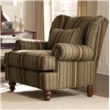 Craftmaster Accent Chairs Wingback Accent Chair with Wood Bun Feet