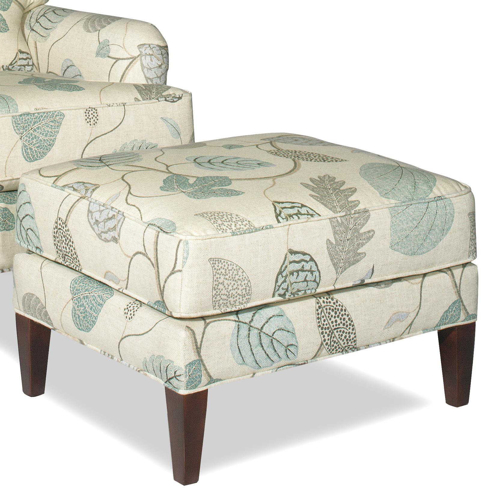 Craftmaster Accent Chairs Transitional Ottoman with Tall Tapered