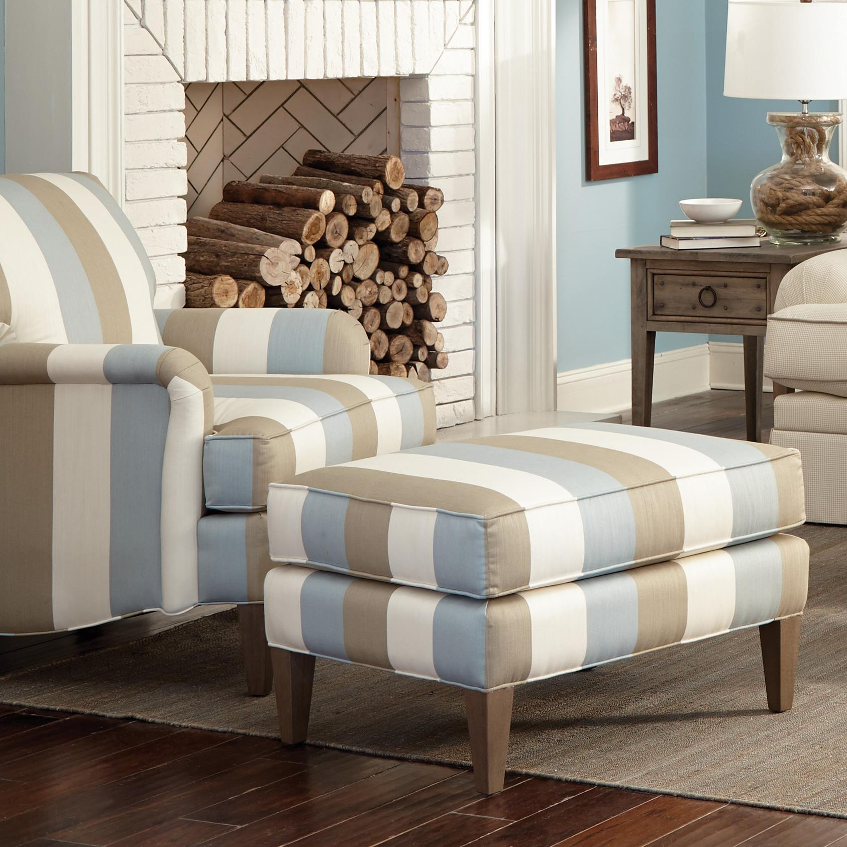 Craftmaster Accent Chairs Transitional Chair And Ottoman