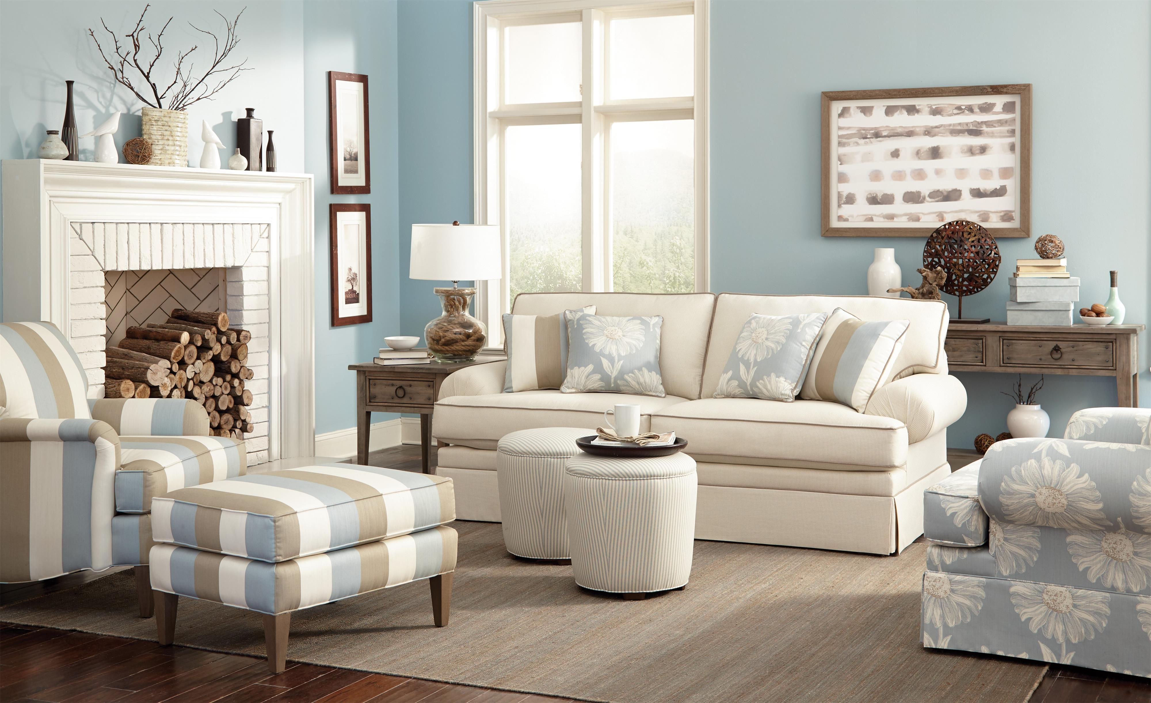 Hickory Craft Accent Chairs Transitional Chair And Ottoman