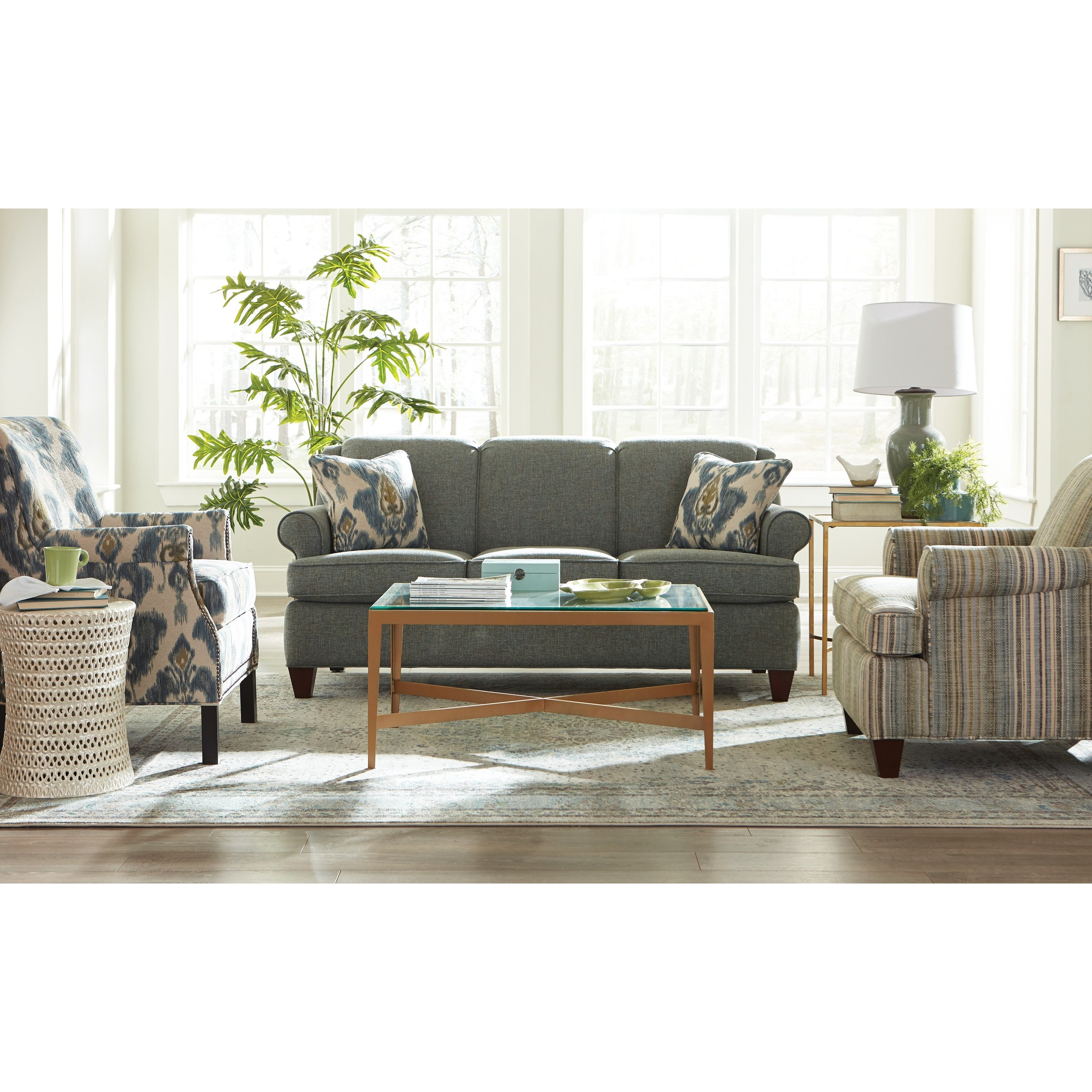 Craftmaster Accent Chairs Transitional Rolled Arm Accent