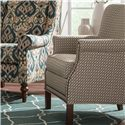 Cozy Life Accent Chairs Transitional Rolled Arm Accent Chair with Nailhead Trim