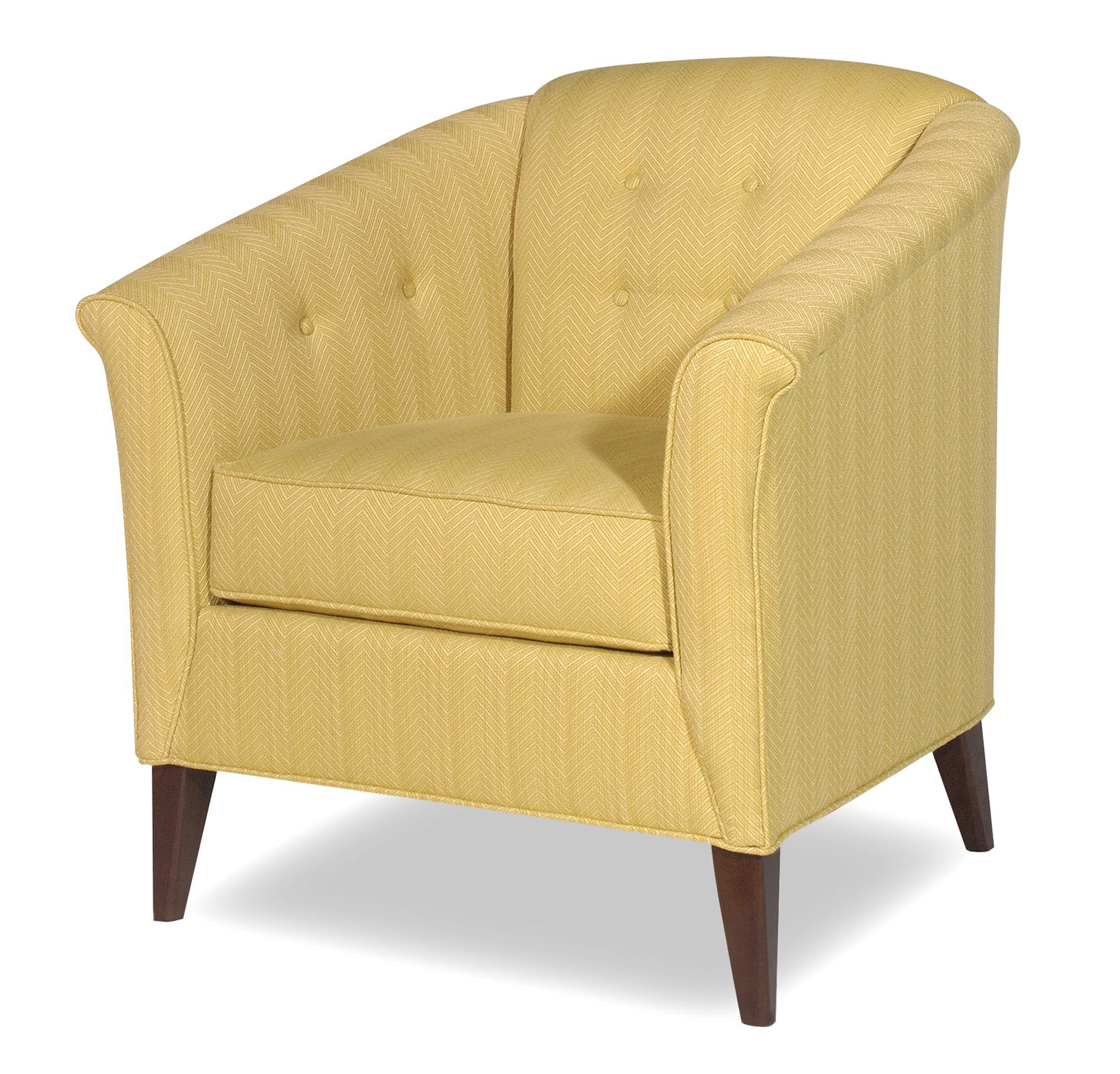 Craftmaster Accent Chairs Contemporary Button Tufted Barrel Back Chair    AHFA   Upholstered Chair Dealer Locator