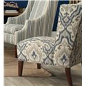 Craftmaster Accent Chairs Contemporary Armless Wing Chair with Nailhead Trim
