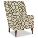 Craftmaster Accent Chairs Modified Wing Back Chair - Item Number: 030410-CARREAU-07