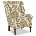 Craftmaster Accent Chairs Modified Wing Back Chair - Item Number: 030410-CREVELLI-10