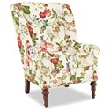 Craftmaster Accent Chairs Modified Wing Back Chair - Item Number: 030410-EMMA-25