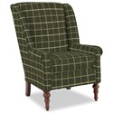 Craftmaster Accent Chairs Modified Wing Back Chair - Item Number: 030410-HERO-41