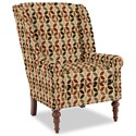 Craftmaster Accent Chairs Modified Wing Back Chair - Item Number: 030410-KALENA-26