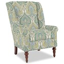 Craftmaster Accent Chairs Modified Wing Back Chair - Item Number: 030410-LATIKA-15