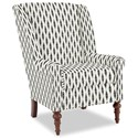 Craftmaster Accent Chairs Modified Wing Back Chair - Item Number: 030410-OPTICAL-23