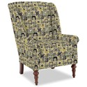 Craftmaster Accent Chairs Modified Wing Back Chair - Item Number: 030410-SQUARETOP-15