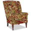 Craftmaster Accent Chairs Modified Wing Back Chair - Item Number: 030410-TEAK-26
