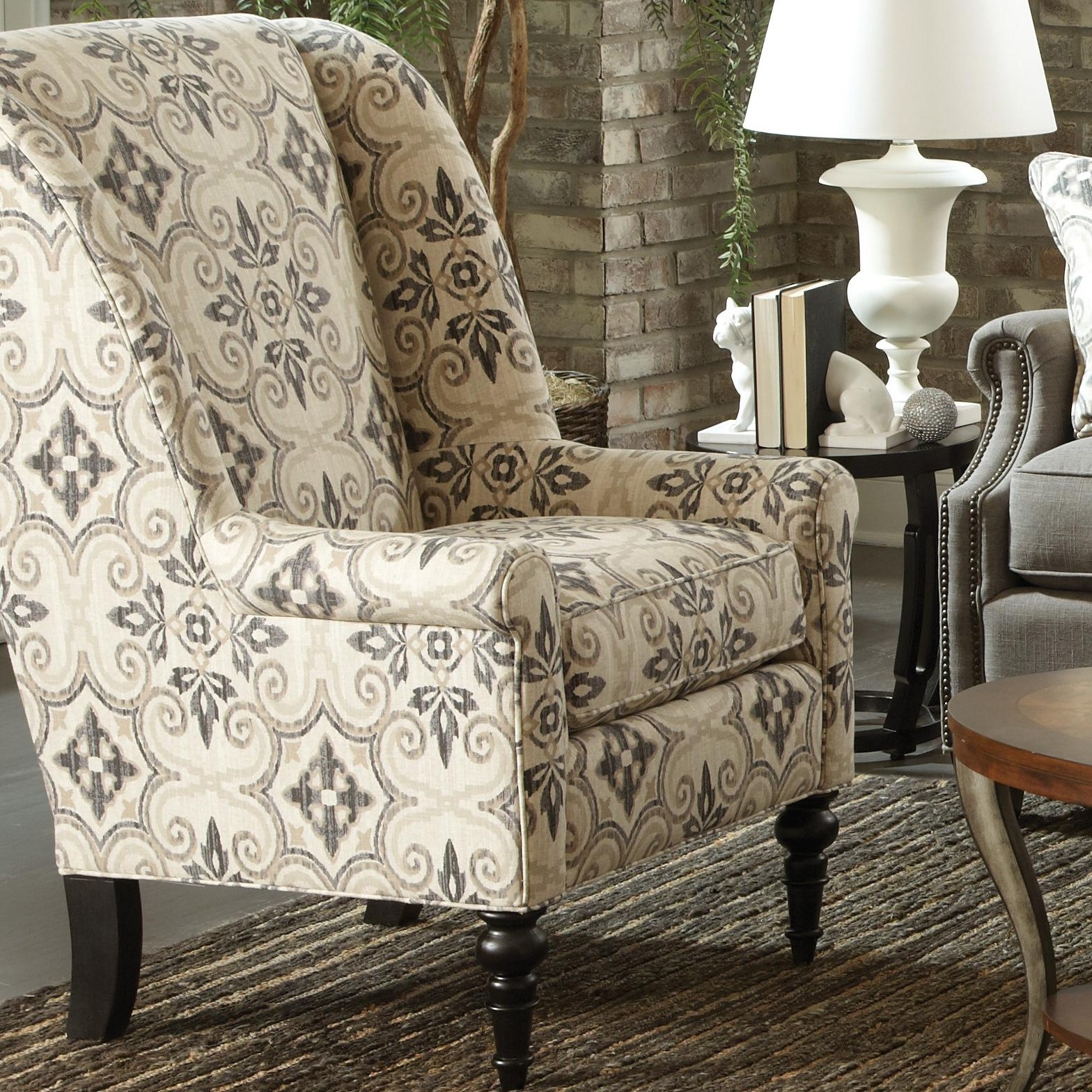 Craftmaster Accent Chairs Traditional Chair with Modified Wing Back ...