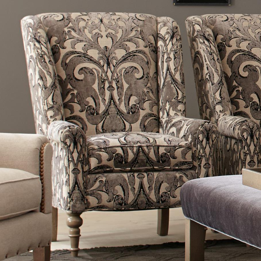 Craftmaster Accent Chairs Traditional Chair with Modified ...