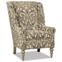 Craftmaster Accent Chairs Modified Wing Back Chair - Item Number: 030510-GUINEVERE-41