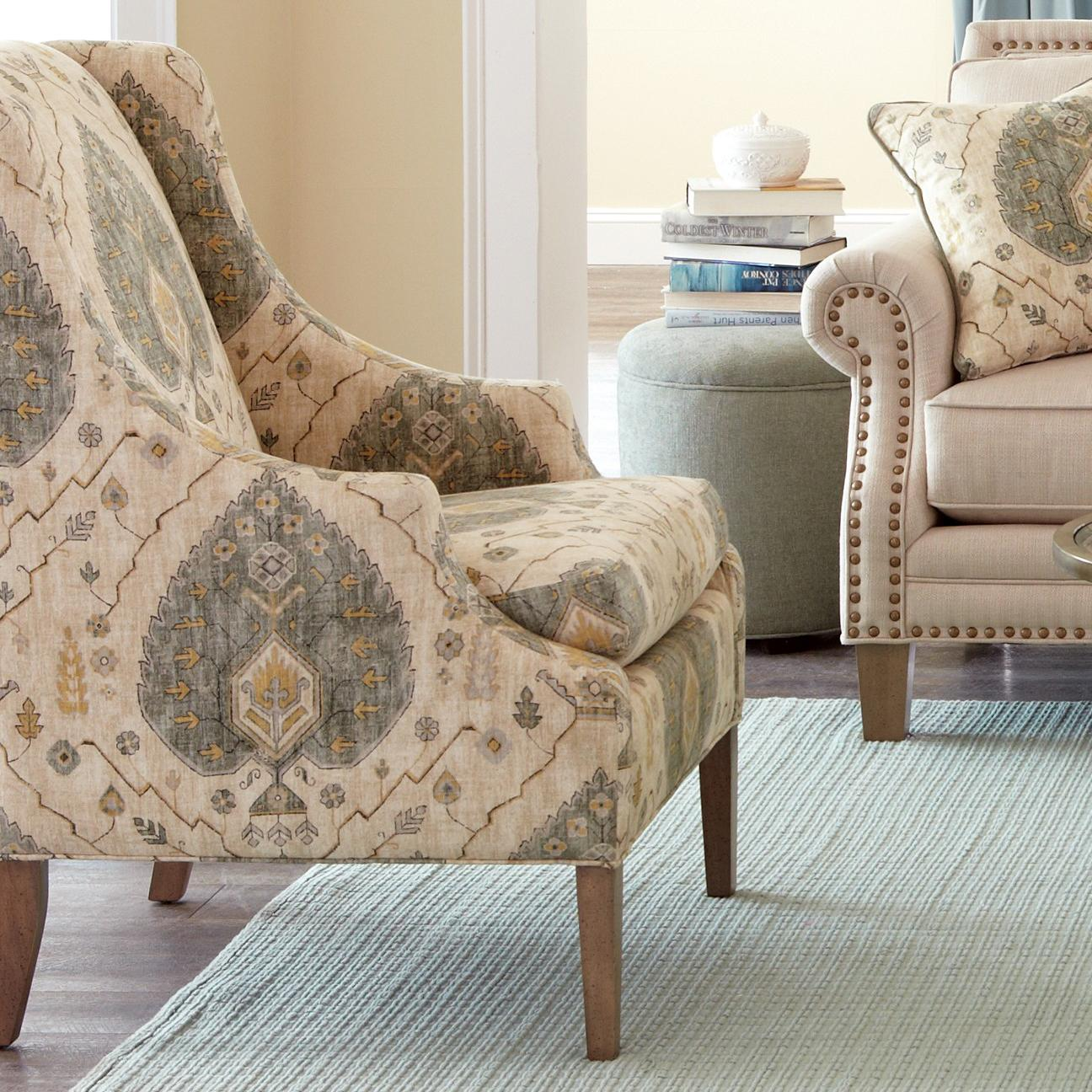 Bauer plantation chair - Craftmaster Accent Chairs Transitional Chair With Scalloped Arms Boulevard Home Furnishings Upholstered Chairs