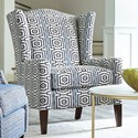 Craftmaster Accent Chairs Wing Chair - Item Number: 032410-HYPNOTIC-23