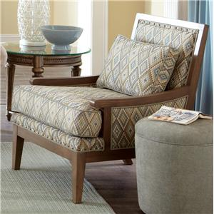 Craftmaster Accent Chairs Exposed Wood Accent Chair