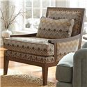 Craftmaster Accent Chairs Contemporary Exposed Wood Accent Chair